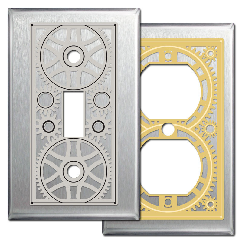 Industrial Engineering Stainless Steel Light Switch Wall Plates