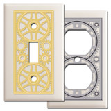 Almond Industrial Revolution Steampunk Switch Plates