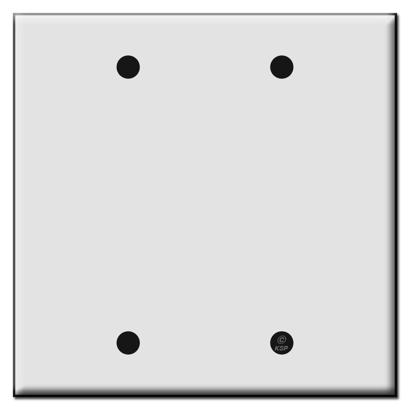 Double Blank Plastic Wall Plate Covers  sc 1 st  Kyle Switch Plates & Double Blank Plastic Wall Plate Covers | Kyle Switch Plates