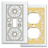 White Steampunk Industrial Decor Switch Plate & Outlet Covers