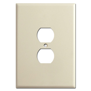 """Ultra Large 6.38"""" Tall Oversized Outlet Receptacle Covers - Ivory"""