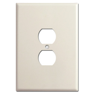 "6.38"" Extra Large Oversized Outlet Cover Plate - Light Almond"