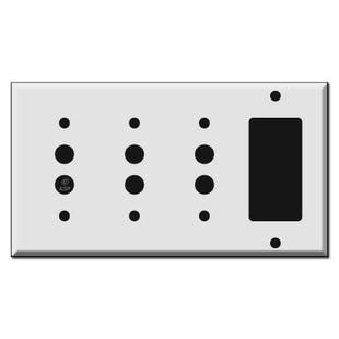Combo 3 Push Button 1 GFCI Decora Rocker Light Switch Covers