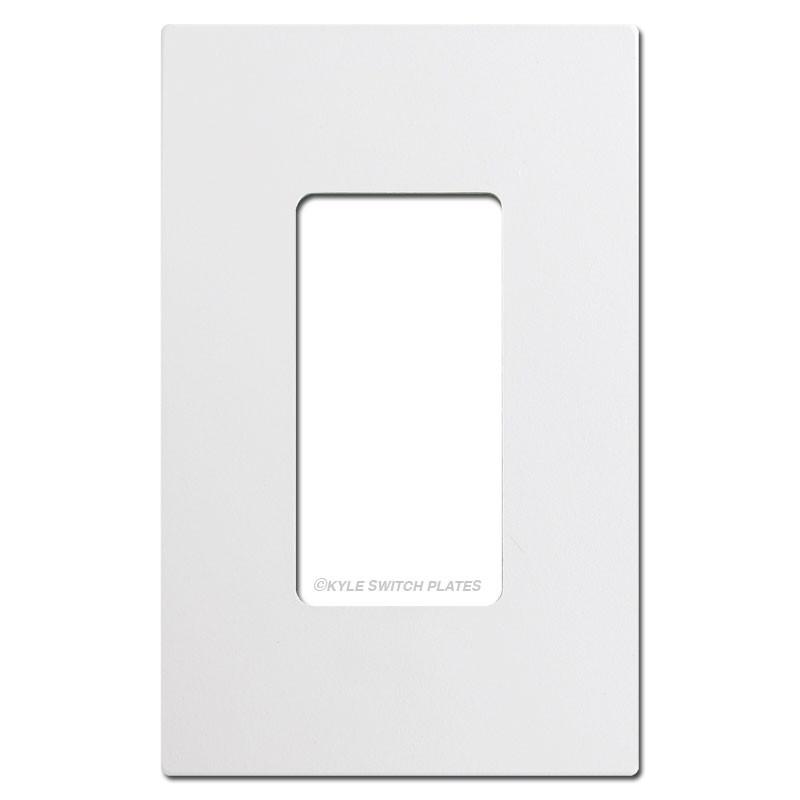 Screwless 1 Decora Rocker Switch Plate Cover White Plastic