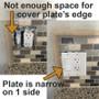 Narrow Edge for Tile Backsplashes