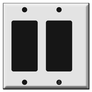 Narrow 2 GFI Decora Rocker Light Switch Plate Covers
