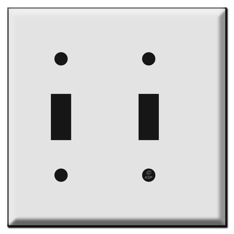 Narrow 2 toggle light switch wall plates for tight spaces usa made narrow 2 toggle light switch plates aloadofball Image collections