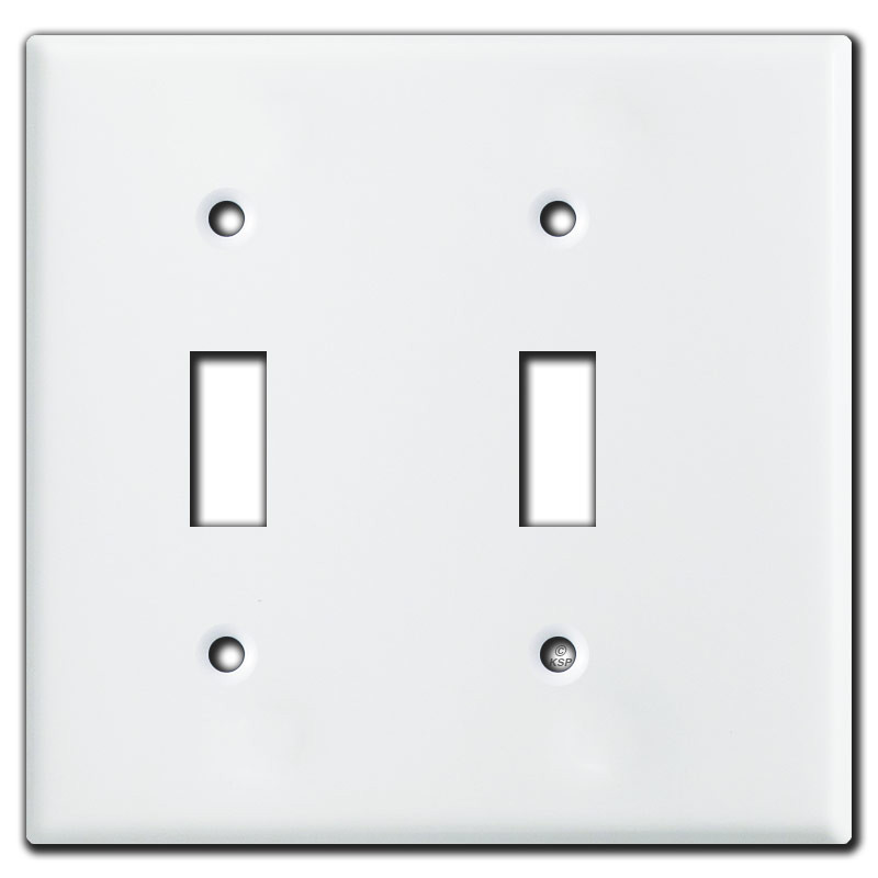Double Light Switch Cover Amazing White Narrow 2 Toggle Light Switch Cover For Tight Spaces  Usa Made Design Inspiration