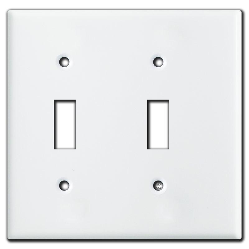 narrow 2 toggle light switch plates