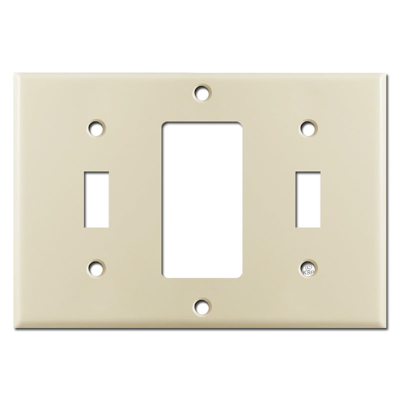 Two Toggle One Outlet Switch Plates