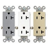 20A Pass & Seymour Decorator Outlets Specification Grade