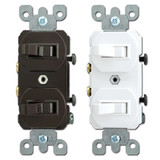 Leviton Duplex Horizontal Toggle Single Pole Light Switches