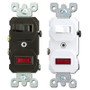 Leviton Duplex Toggle Switch & Pilot Light Combination Device