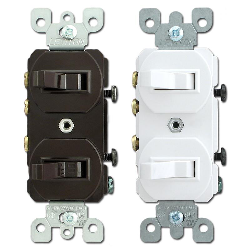 leviton stacked single pole \u0026 3 way horizontal toggle switches 5241