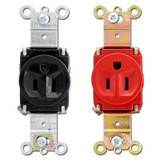 Pass & Seymour 15A Single Round Outlet Receptacles
