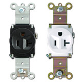 Pass & Seymour 20 Amp Single Round Receptacle Outlets