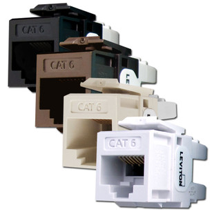 Cat 6+ Ethernet Jacks for Leviton QuickPort Frames