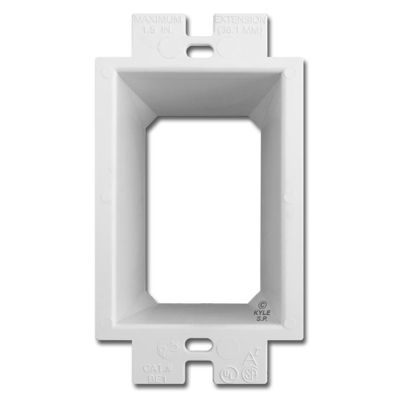 Plastic Box Extender Goof Ring - Raise Deep Outlet Up 1.5\