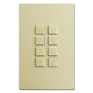 Touch-Plate Mystique - Ivory - 8 Switches