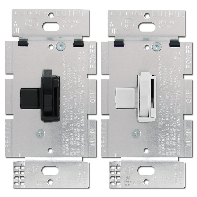 Lutron 1000 W Toggle Light Dimmer Switches Ariadni AY10P
