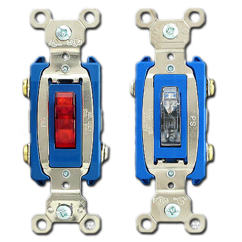 [ZTBE_9966]  Pilot Light Switch - Toggle Illuminated When On - P&S PS15AC1-XPL | Illuminated Light Switch Home Wiring Diagram |  | Kyle Switch Plates