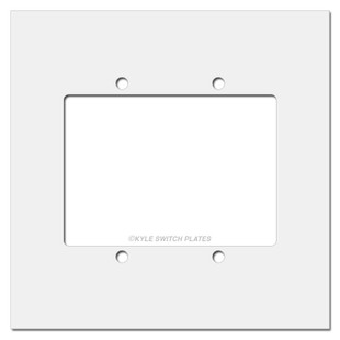White panel will extend the coverage of your 2 gang switch plate.
