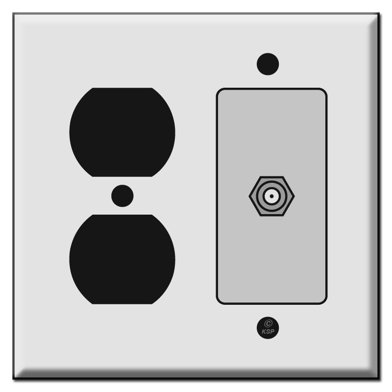Duplex Receptacle & Cable Outlet Cover Plates