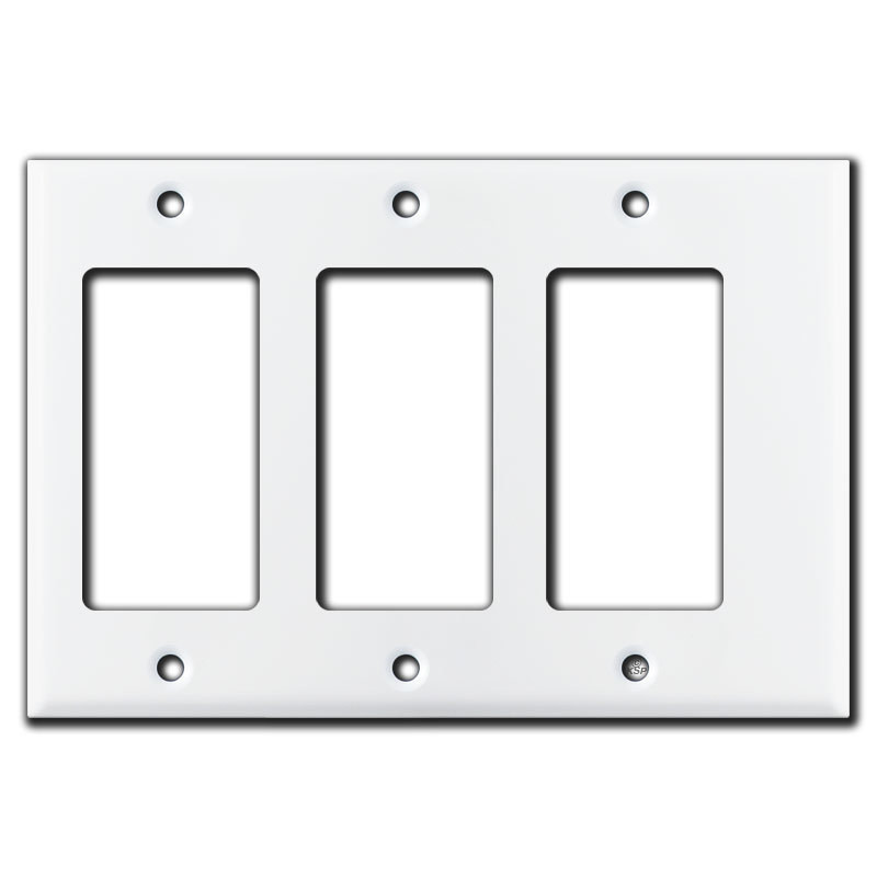 Rocker Light Switch >> Narrow 3 Decora Rocker Light Switch Wall Plates