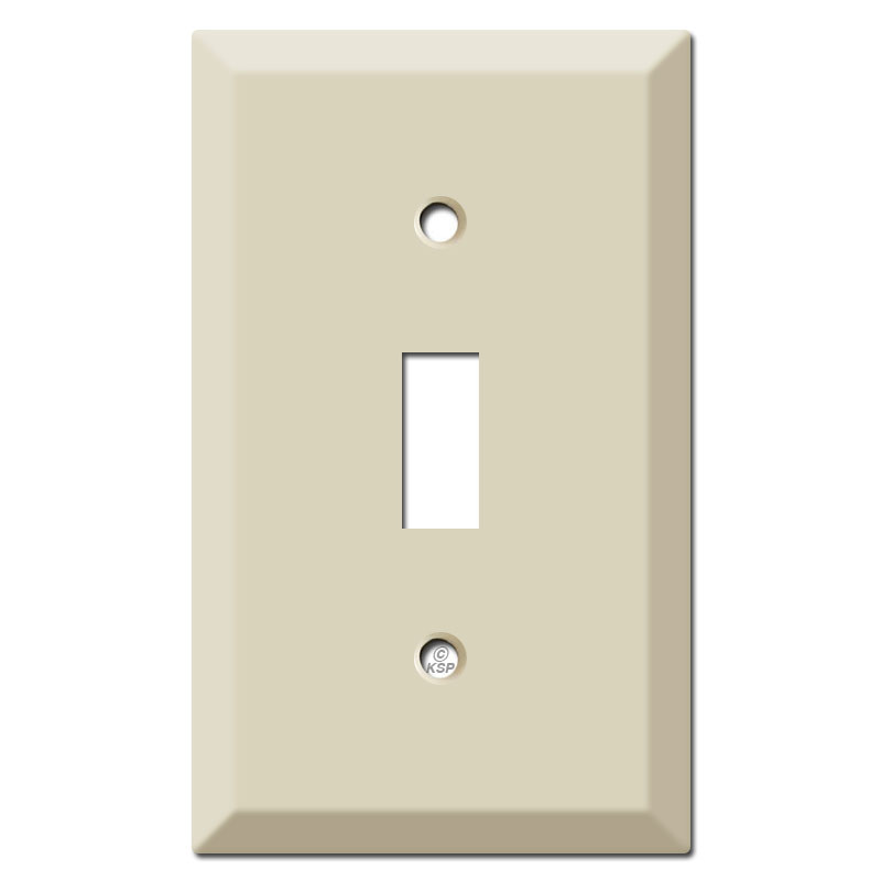 Deep Raised 1 Toggle Light Switch Cover - Ivory