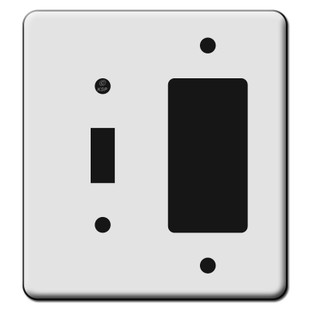 Tall 1 Toggle 1 Decora GFCI Switch Plate Covers