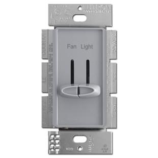 Gray Dual Fan Control Light Dimmer Switches Lutron Skylark