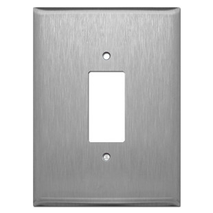 "Stainless Steel Super Big 7.5"" Jumbo Decora Outlet Rocker Switch Cover"
