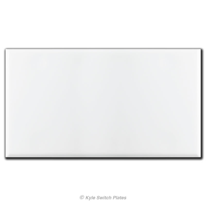 4 gang all blank no holes electrical box cover white for Four blank walls