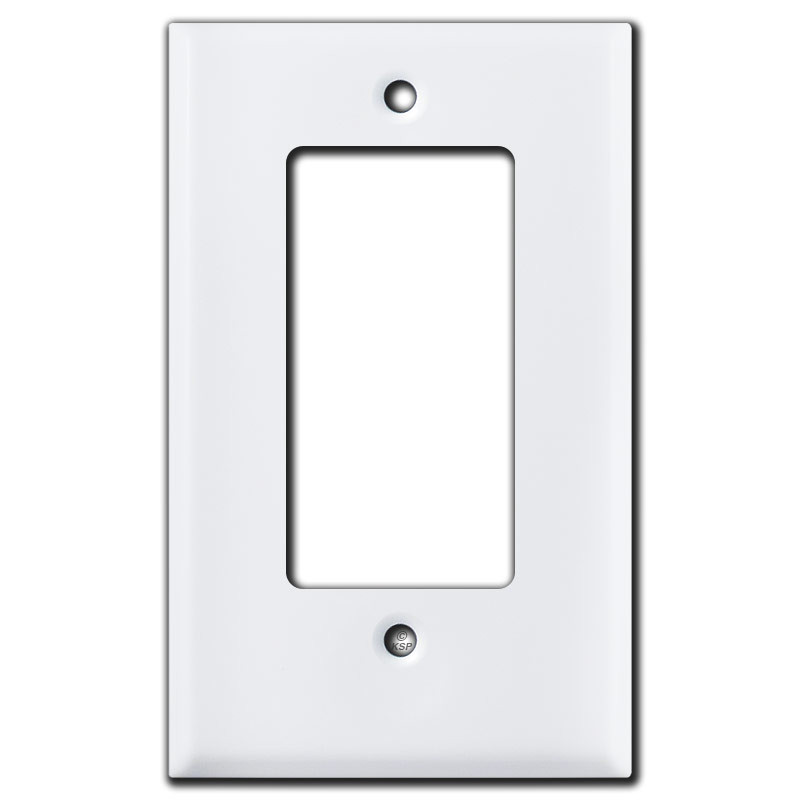 "Outlet Plates Half Short 19"" Trimmed Rocker Gfci Outlet Cover Plate  White"