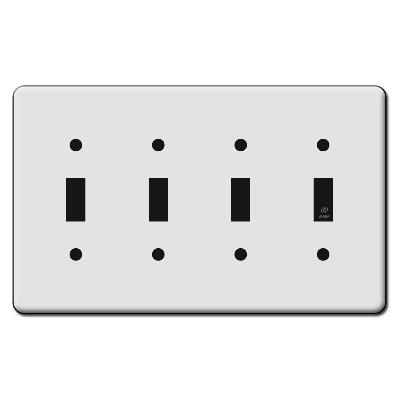 4 Switch Plate Pleasing Tall 4 Toggle Switch Plate Covers  Kyle Switch Plates Design Ideas