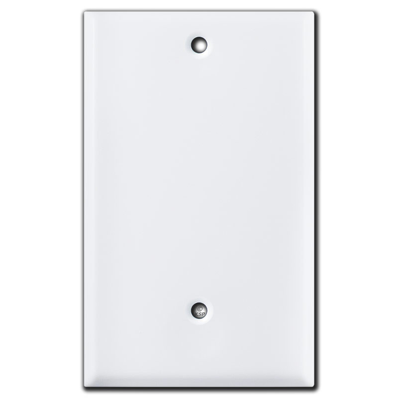 Short Blank Electrical Cover Plate 25 Trim White