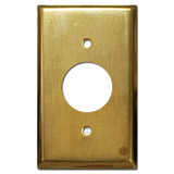 1 Round Outlet Cover Plate - Raw Satin Brass