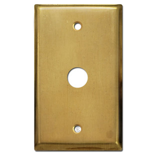 Telephone Cable Cover Switch Plate - Raw Satin Brass