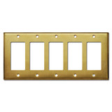 5 Decora Rocker GFI Switch Cover Plate - Raw Satin Brass