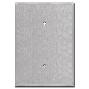 """Extra Oversized Blank Electrical Cover 6.38"""" Tall - Stainless Steel"""
