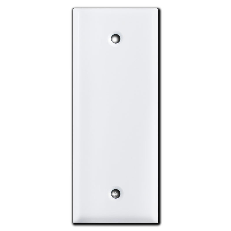 Narrow 1.75\'\' Blank Light Switch Outlet Cover - White