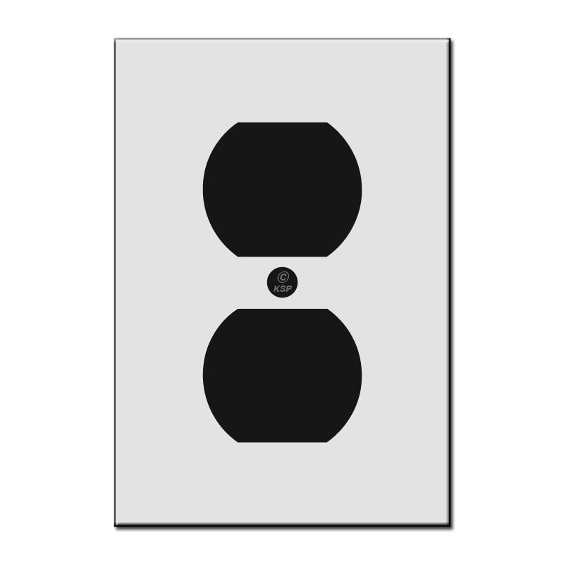 Flat Short 4 Quot Duplex Outlet Cover Plate Kyle Switch Plates