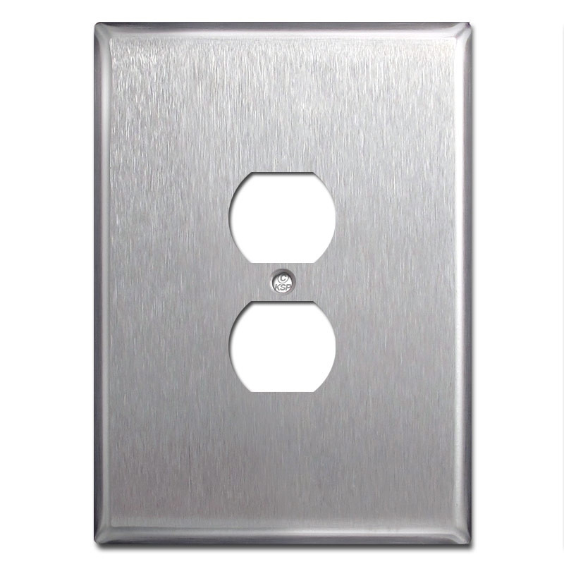 "Metal Electrical Outlet Covers Oversized Outlet Covers: Big 6.38"" Jumbo Outlet Cover Wall Plate"