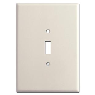 "Super Large 6.38"" Jumbo 1 Toggle Switchplate - Light Almond"