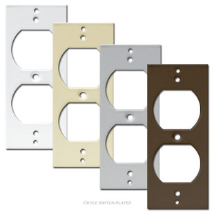 Decora Rocker to Duplex Outlet Insert for Light Switch Covers