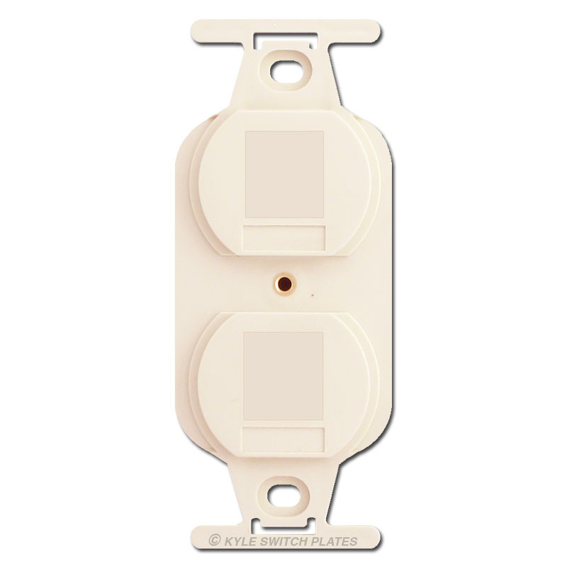 Duplex receptacle blank insert for outlet covers light almond publicscrutiny Image collections