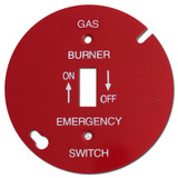 "Red 4"" Round Toggle Gas Burner Control Switch Cover #028"