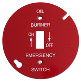 "Red 4"" Round Toggle Oil Burner Control Switch Cover #012"
