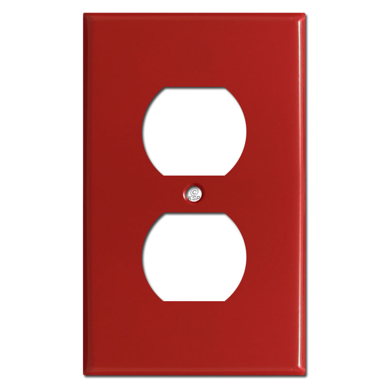 Red Tractor Plate Outlit : Duplex outlet cover switch plates red kyle