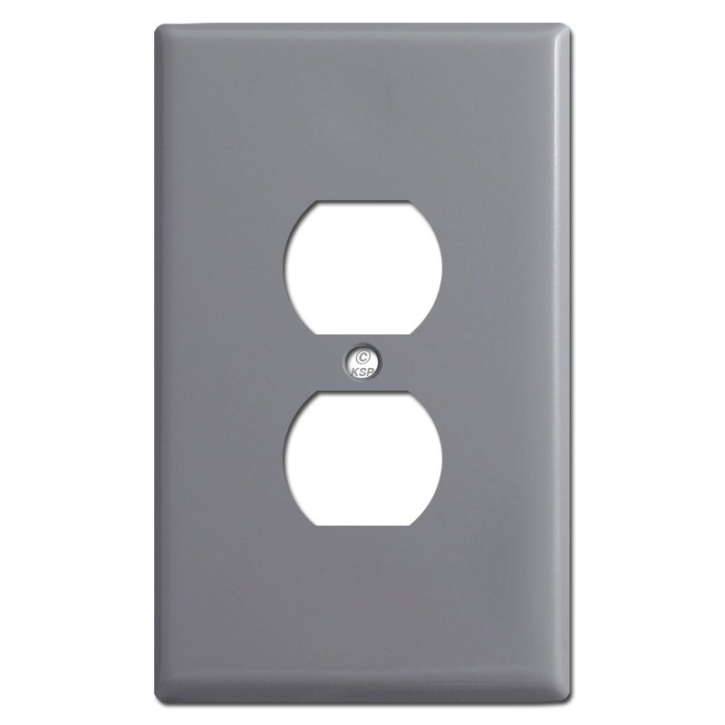 Metal Electrical Outlet Covers Oversized Outlet Covers: Oversized Outlet Plate Covers - Gray
